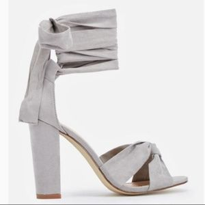 3/$24 JustFab size 10 Gray  Wrap Sandals